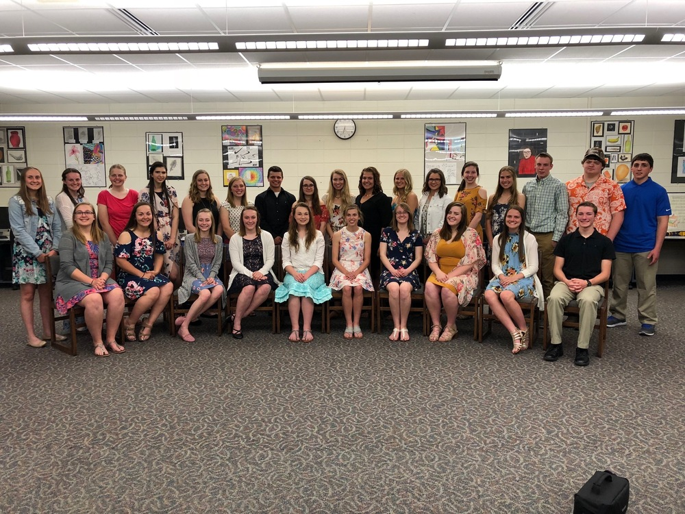 The CHS 2018 National Honor Society Students