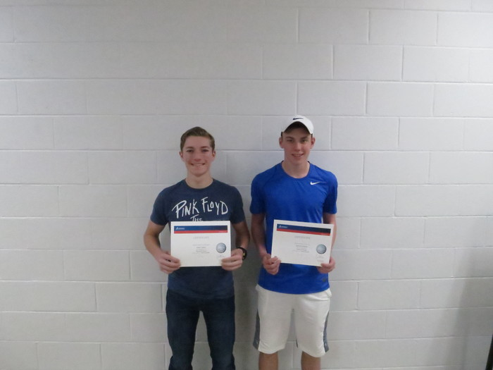 Certified SolidWorks Professional Exam students:  Isaac Grahl and Hunter Jandre