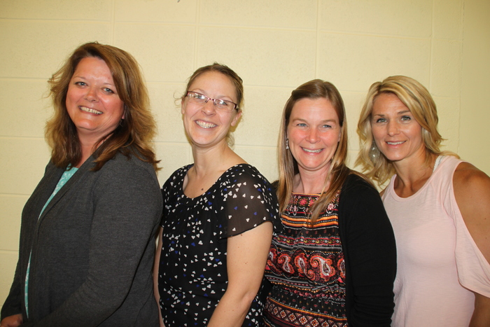 10 year of CSD service (Left to right): Holly Feucht, Lilly Guenther, Kathee Dirmeier, and Jennifer Pollpeter.  Not pictured:  Karen Holtz and Becky Warnecke.