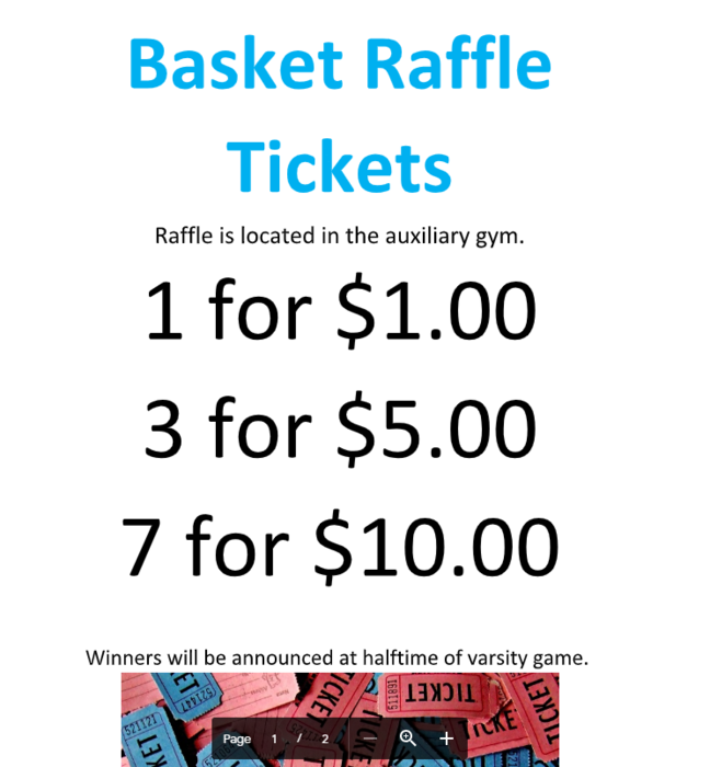 Raffle ticket information