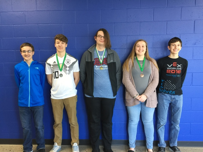Nathan Seefeld - 2nd for general science, Zach Bath - 2nd for Chemistry, Jackson Liermann - 1st for Geography, Alexa Majerus - 3rd for Algebra 2, Joseph Krahn - 1st for biology, Erika Girmscheid is not pictured - 3rd for British Literature