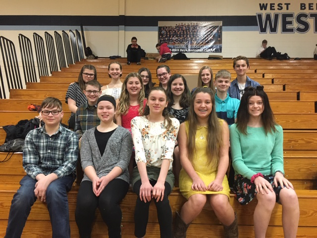 Middle School State Forensics Team