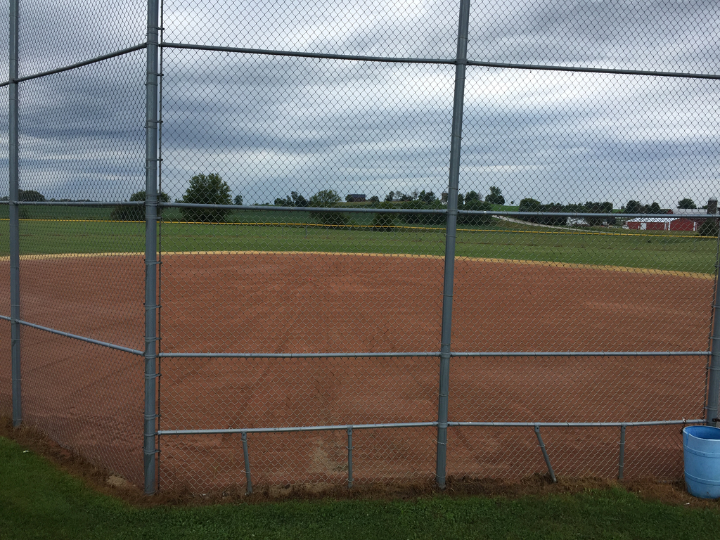 Varsity field re-crowned and resurfaced with infield mix.
