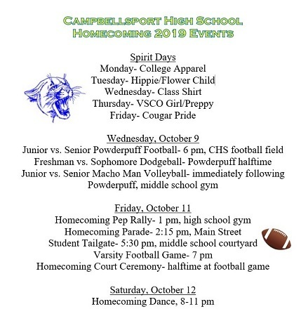 Homecoming 2019 Events