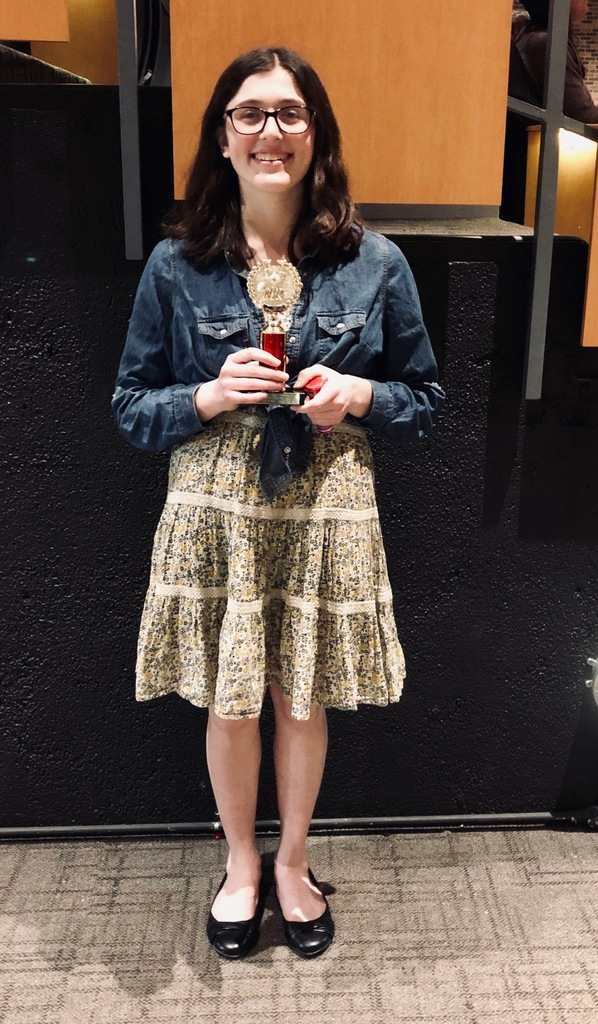 Tessa Homuth earned a 3rd place trophy in Storytelling.