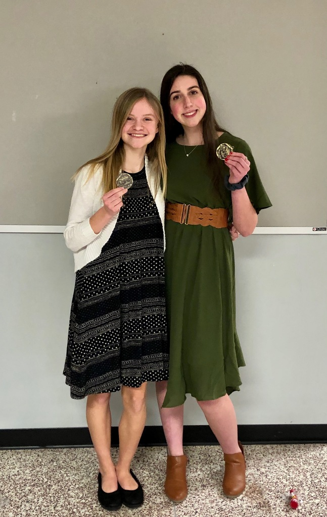 Macy Pawlowski and Hala King earned 4th place in Playacting.