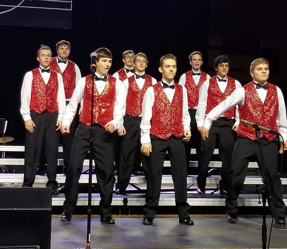 Show Choir Men at Competition