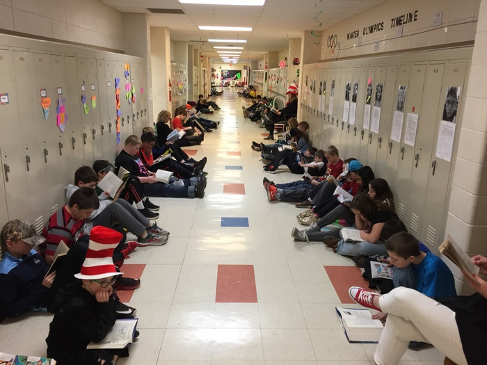 Eden Elementary Students Showing the Importance of Reading.